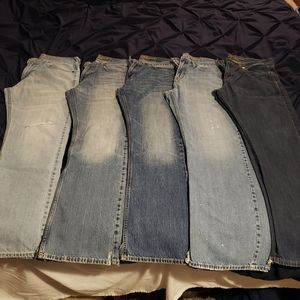 Lot of American Eagle Mens Bootcut Jean's 32x32